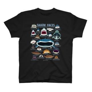 サメカオblack専用 T-shirts