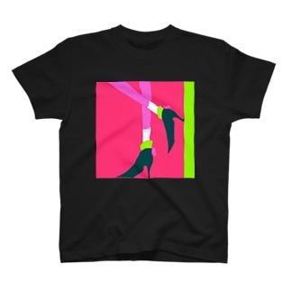 リボンヒール T-shirts