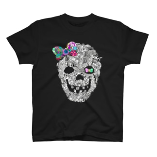 326(なかむらみつる)のスカルリボン T-Shirt