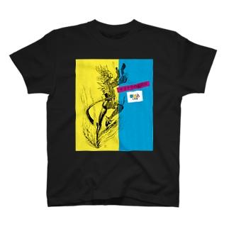 サヨナラの最終回×IMALAB(C01-BLACK) T-shirts