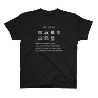 洗濯表示が見やすい T-shirts