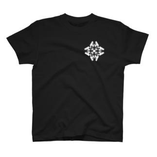 スクエア(白) T-shirts