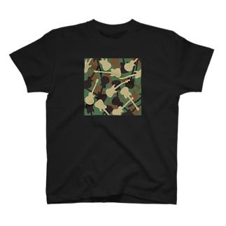 ギターカモフラージュ T-shirts