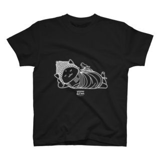 PygmyCat suzuri店の仏にゃん(白線) T-shirts