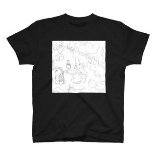 どうぶつ白 T-shirts
