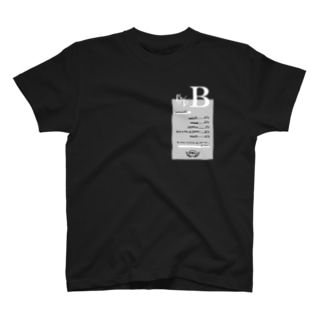 B型★モノクロ T-shirts