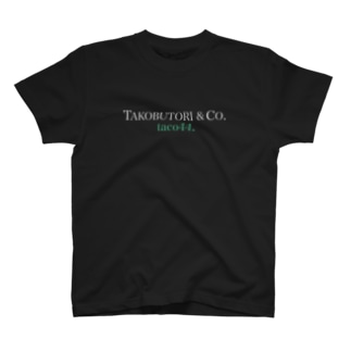 TACOBUTORI 白×緑  黒用 T-Shirt