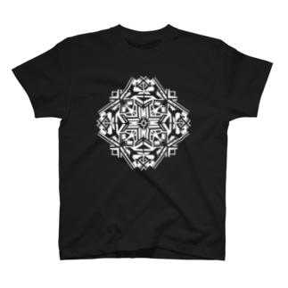 リーフ(白) T-shirts
