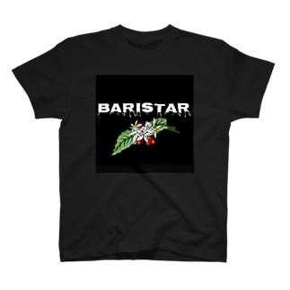 コーヒーの花 黒 T-shirts