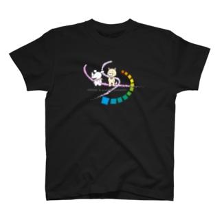 シキサイとウラオモテヤマネコ T-shirts
