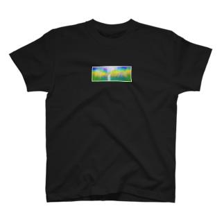 誰かと見た景色 ひまわり畑 T-shirts