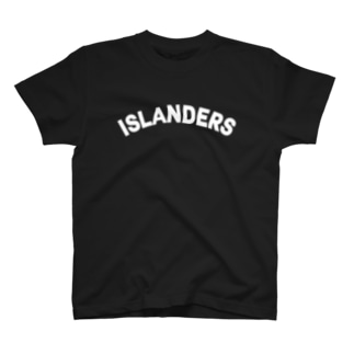 ISLANDERS白ロゴ T-shirts