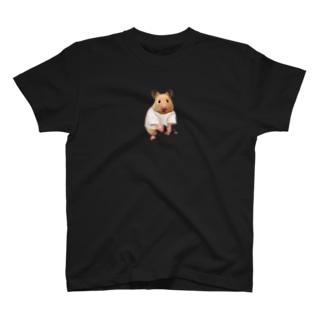 岡ちゃん@奇Tクリエイター師範代の筋トレをするキンクマハムスター (ダンベル) T-shirts