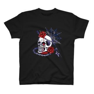 スカル・ローズ/Tシャツ T-Shirt