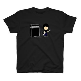 「フライングV」タイプのギターとアンプ ver.2 T-shirts