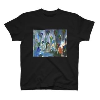 絵画 「 流れ落ちる塊 」 T-shirts