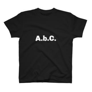 エービーシー(白文字) T-shirts