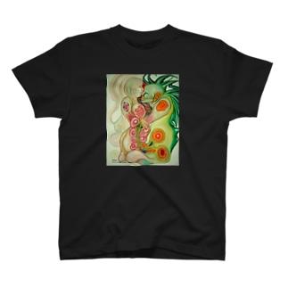 融合体ステッカー Tシャツ
