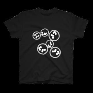 mono14onomの丸ドット柄 T-shirts