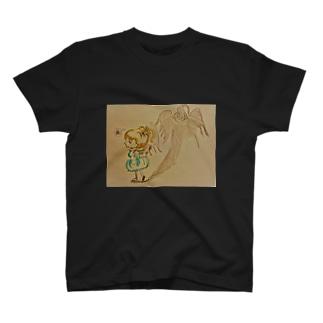 女の子と悪魔 T-shirts