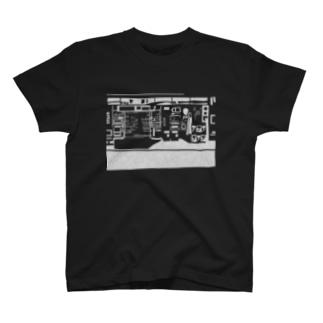 コンビニ柄【白】 T-shirts