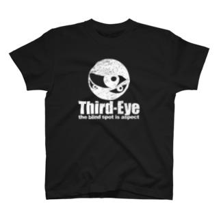 サードアイ・オリジナルロゴ・ビンテージ白 T-shirts