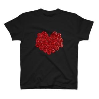 赤のバレンタイン T-shirts