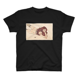 エゴン シーレ(Egon Schiele) / 裸体の女(Nude) 1917 T-shirts