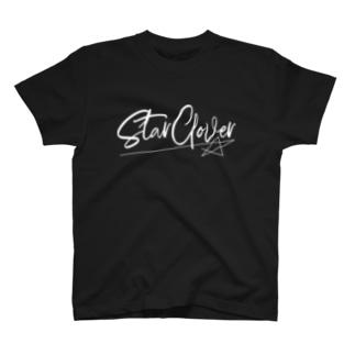 StarClover シンプルロゴ(白) T-shirts