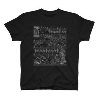 月猫のタブラチュア T-shirts