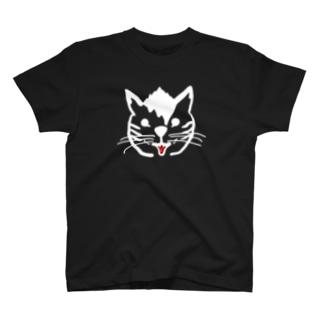 ヤンチャ猫(白色服以外用) T-shirts