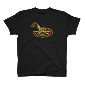 ピザ ネオンサイン風 T-shirts