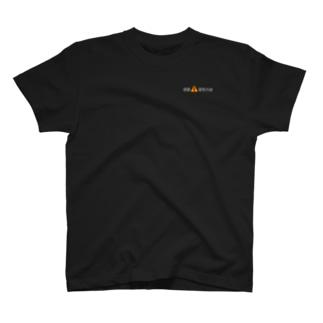 京阪酷道(白文字+バック中央上) T-shirts