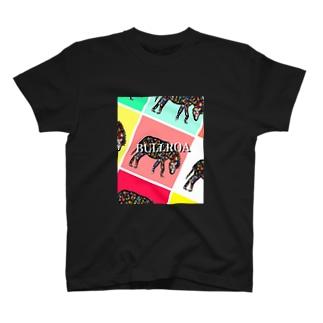 uehori.動物画.BULLROAシリーズコラボ Tシャツ T-shirts