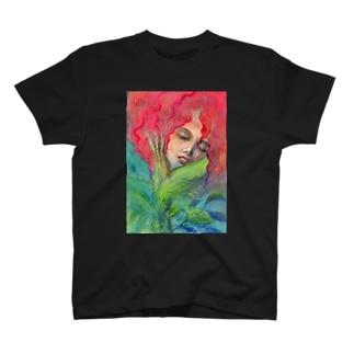 Red flower elf T-shirts