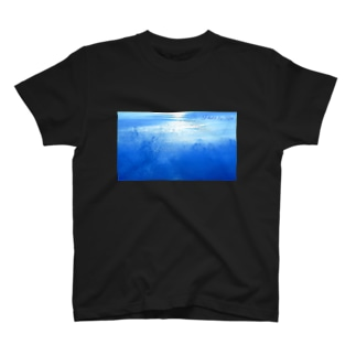 Blue wave T-shirts