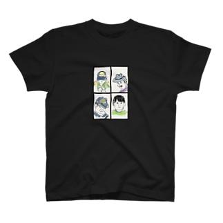 4人 T-shirts