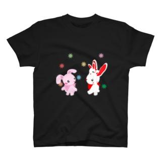 うさぎの家族 T-shirts