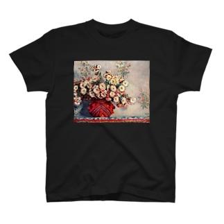 Stilleben mit Chrysanthemen T-shirts