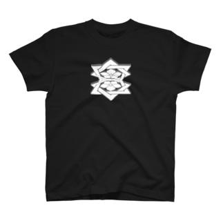 桔梗紋3D 白 T-Shirt