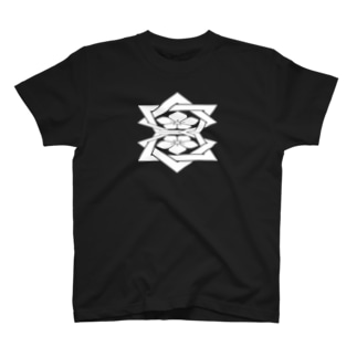 桔梗紋 白 T-Shirt