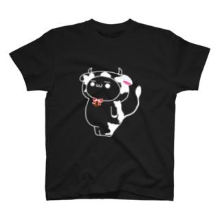 小ミルTシャツ (白抜き) T-shirts