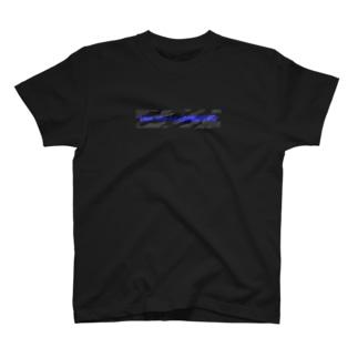 国士の迷彩(黒×青) T-shirts