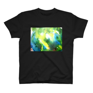 green natural T-shirts