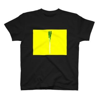 ステンドグラスネギ T-shirts