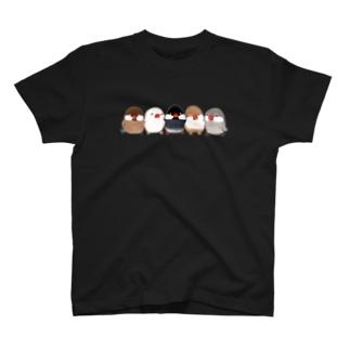 ハミングピッピの文鳥ちゃん集合ー! T-shirts