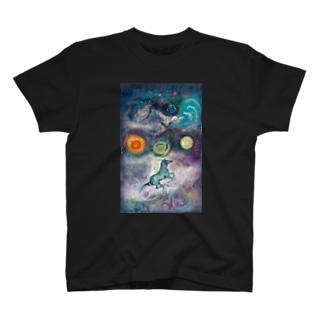 地球を乗り巡るウツロヰ T-shirts