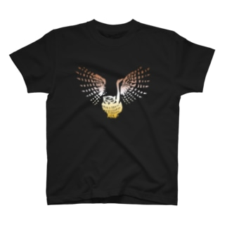 コタンコロカムイ(黒背景) T-shirts