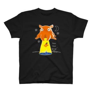 CT145 たこさんwinなーとメンダコUFO T-shirts