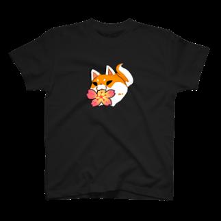 墨吉ぽち狐の桜もちぽ T-shirts